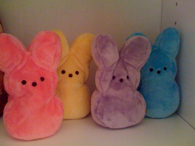 The Peeps Bunnies collection...on my bookshelf